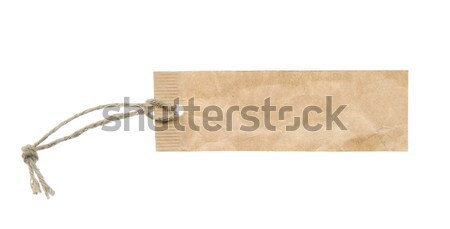Frame made from grunge label with string Stock photo © carenas1