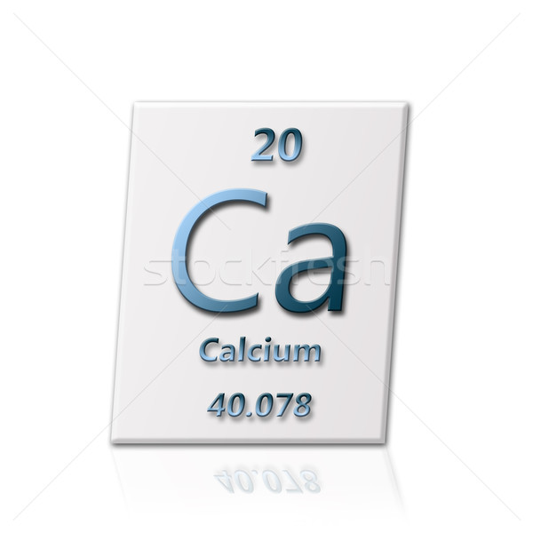 Chemische element calcium alle informatie school Stockfoto © carenas1