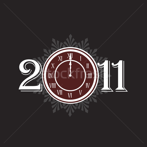 New year 2011 concept with clock Stock photo © carenas1