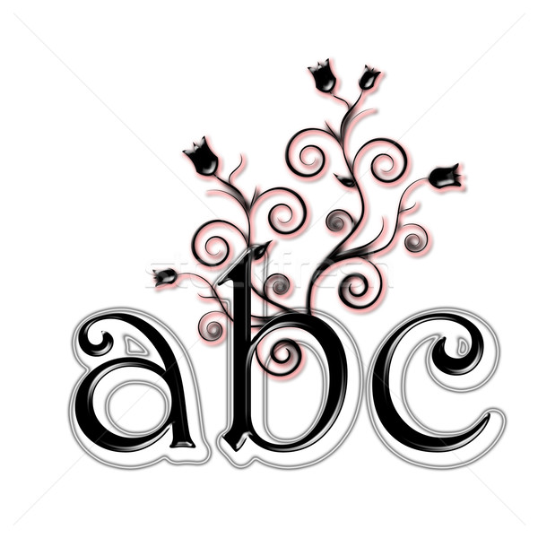 Black lower case letters A, B, C Stock photo © carenas1