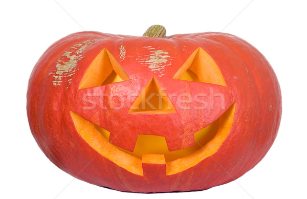 Creepy pumpkin for halloween party Stock photo © carenas1