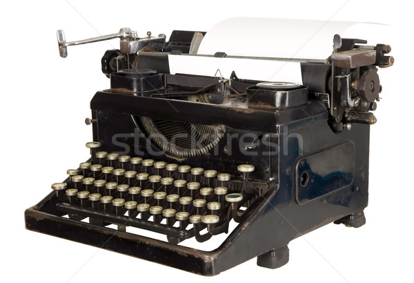 Сток-фото: Vintage · машинку · белый · старые · антикварная · черный
