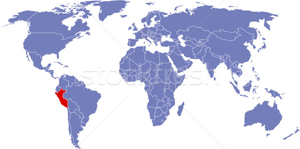Stockfoto: Globale · kaart · wereld · Peru · achtergrond · aarde