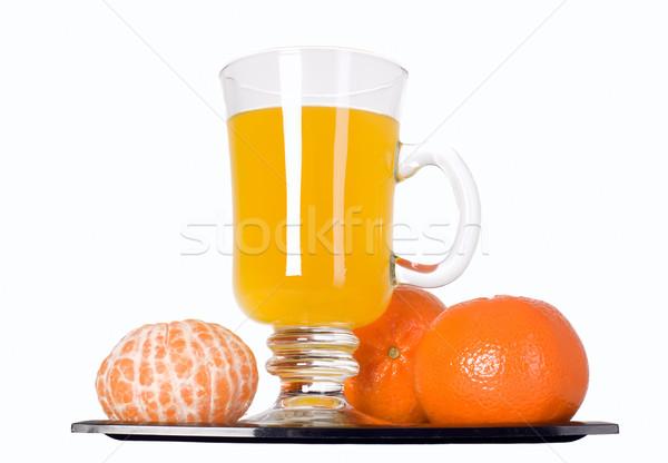 Mandarim fruto suco de laranja vidro frutas suco Foto stock © carenas1