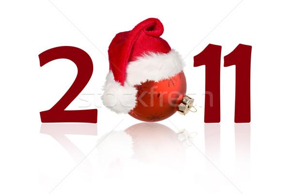 Nowy rok 2011 christmas zabawki numer zero Zdjęcia stock © carenas1