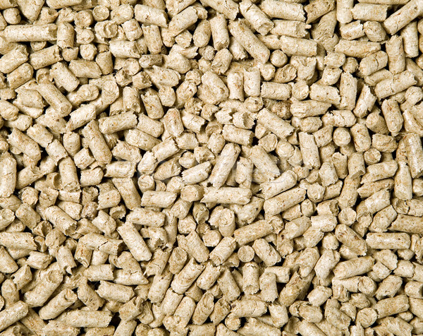 There are many shredded brown wood pellets Stock photo © carenas1