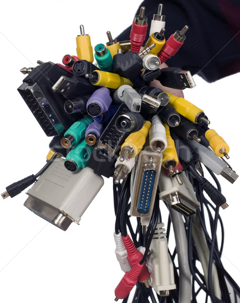 Various wires for electronic devices Stock photo © carenas1