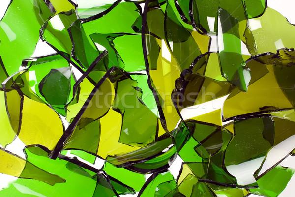 сломанной бутылок бутылку стекла основной цвета Сток-фото © carenas1