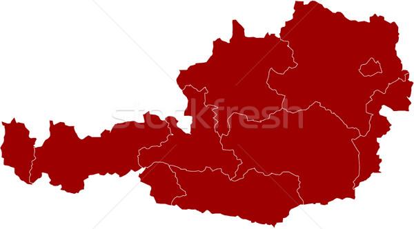 Map of Austria Stock photo © carenas1