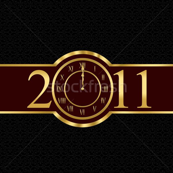 2011 クロック 番号 ゼロ フレーム ストックフォト © carenas1