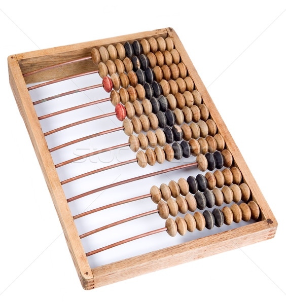 Vecchio matematico mutui abaco legno metal Foto d'archivio © carenas1