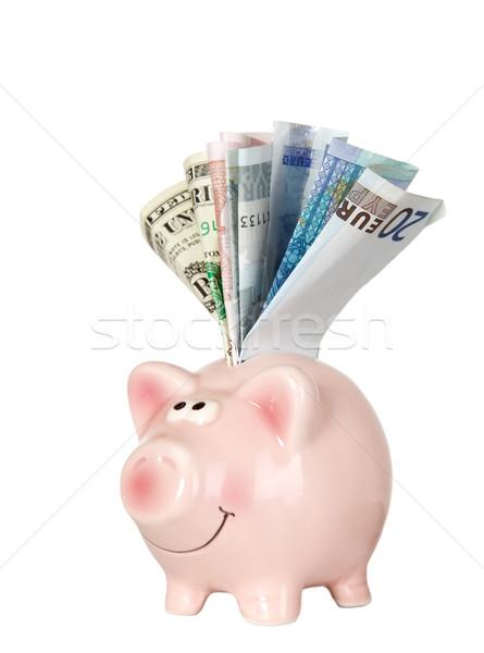 Zdjęcia stock: Wieprzowych · uśmiechnięty · stałego · ceny · oszczędność · finansów
