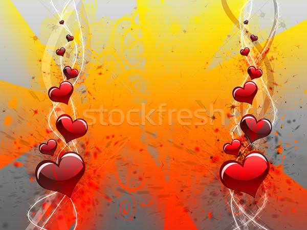 Hart liefde maat grunge Stockfoto © carenas1
