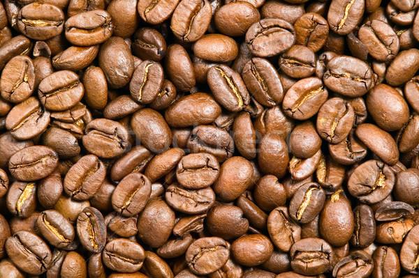 Marrom grãos de café beber textura café escuro Foto stock © carenas1