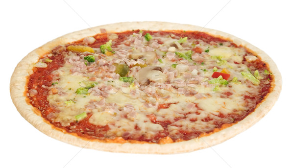 Tasteful pizza with champignons and cheese Stock photo © carenas1
