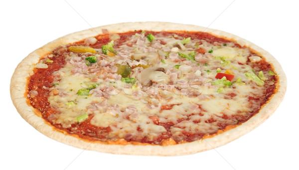 ízléses pizza sajt fehér szakács gyors Stock fotó © carenas1
