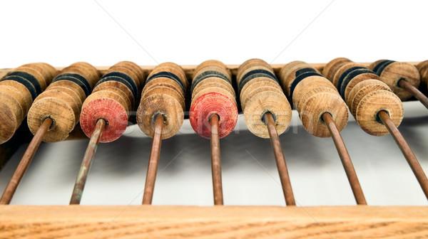 öreg matematikai számológép abakusz fa fém Stock fotó © carenas1