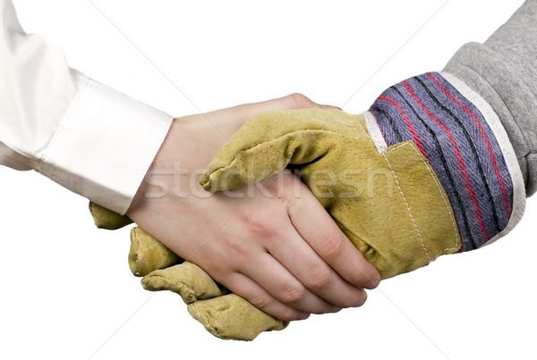 Ipar munkás üzletember kesztyű kezek üzlet Stock fotó © carenas1