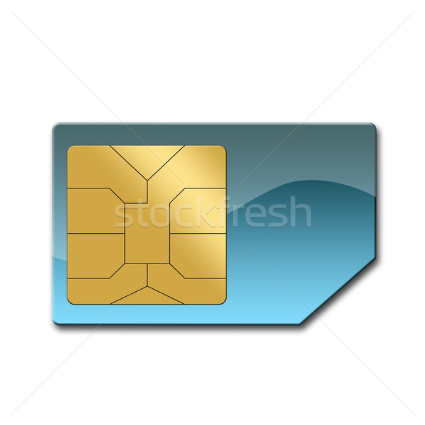Stock photo: Sim card for mobile phone