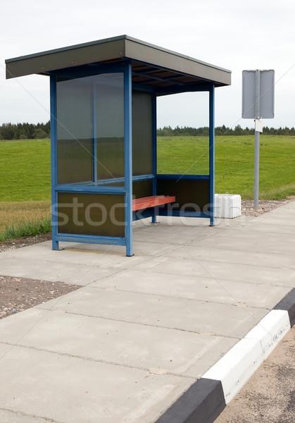 青 バス停 自然 緑 空 草 ストックフォト © carenas1