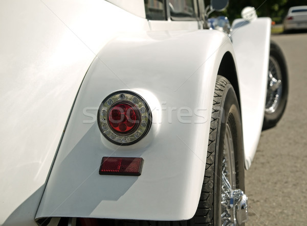 Part of old vintage white car Stock photo © carenas1
