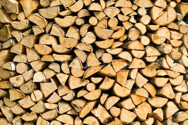 Fából készült vág tűzifa textúra fa fa Stock fotó © carenas1