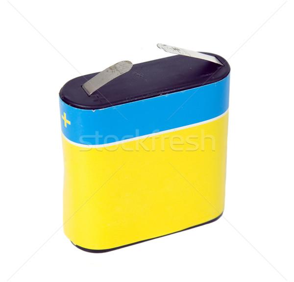 Deux batterie vieux haute tension capacité industrie Photo stock © carenas1