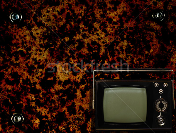 Old tv with grunge background Stock photo © carenas1