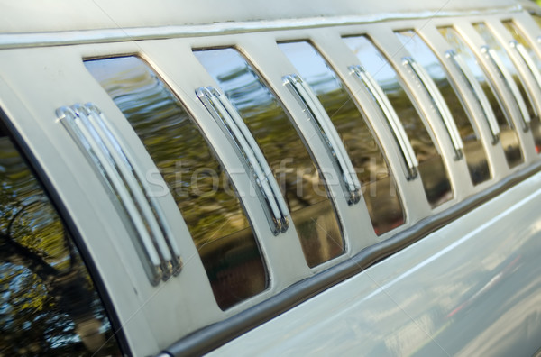 Limousine witte zwarte Windows auto bruiloft Stockfoto © carenas1