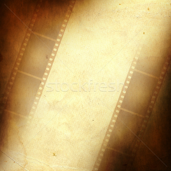 Grunge frame made from photo film strip Stock photo © carenas1