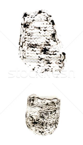 Black foot print Stock photo © carenas1