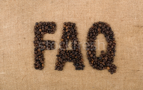 Word of beans: FAQ Stock photo © carenas1