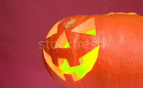 Hátborzongató sütőtök halloween buli szemek orr Stock fotó © carenas1
