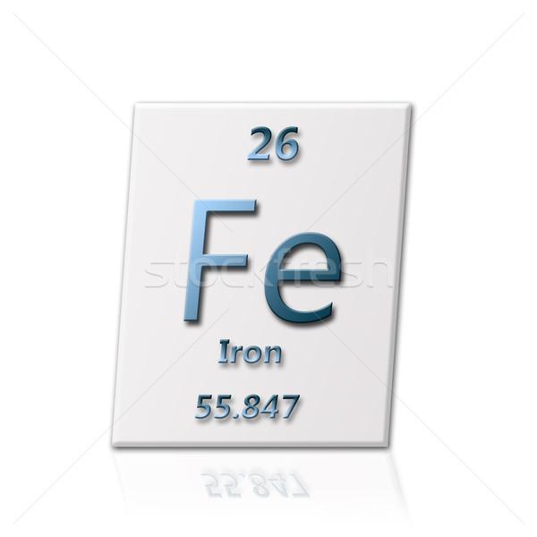 Químico elemento ferro informação escolas Foto stock © carenas1
