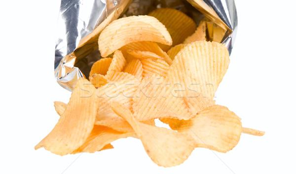 ízléses sültkrumpli arany krumpli ezüst táska Stock fotó © carenas1