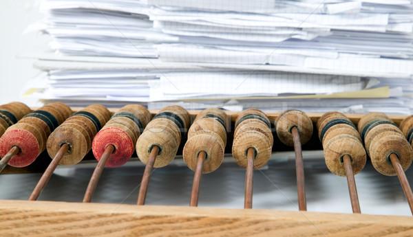 Mathématique simulateur boulier papiers vieux Photo stock © carenas1