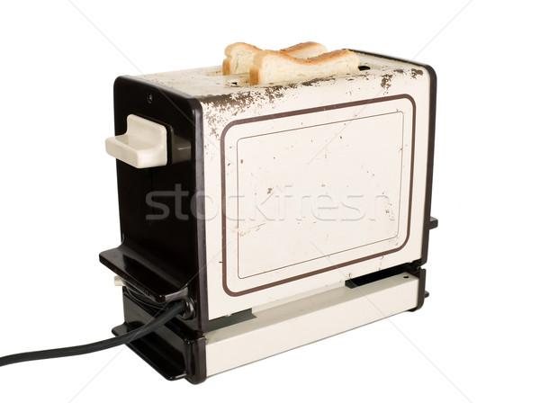 старомодный тостер ломтик хлеб металл черный Сток-фото © carenas1