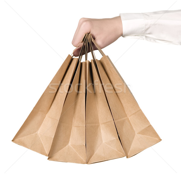 Many organic green paper bags Stock photo © carenas1