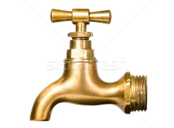 Vintage водопроводной белый изолированный воды Сток-фото © carenas1