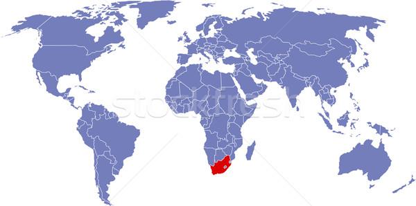 Mondial carte monde Afrique du Sud fond terre Photo stock © carenas1