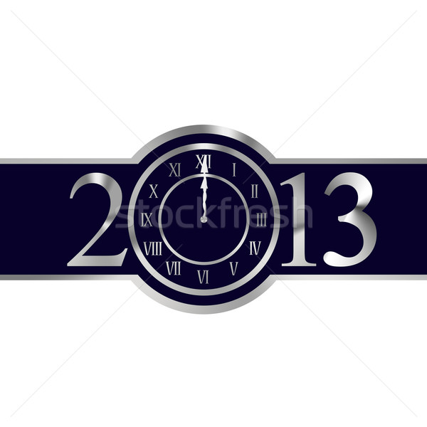 New year 2013 concept with clock Stock photo © carenas1