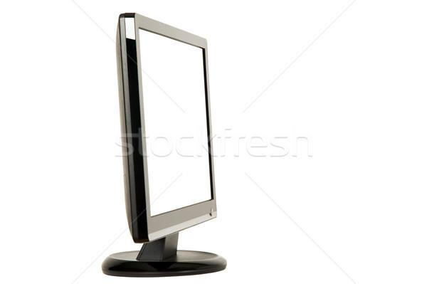 Nowoczesne LCD monitor czarny biały działalności Zdjęcia stock © carenas1
