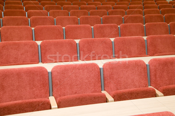 Luxe auditorium beaucoup rouge chaises brun Photo stock © carenas1