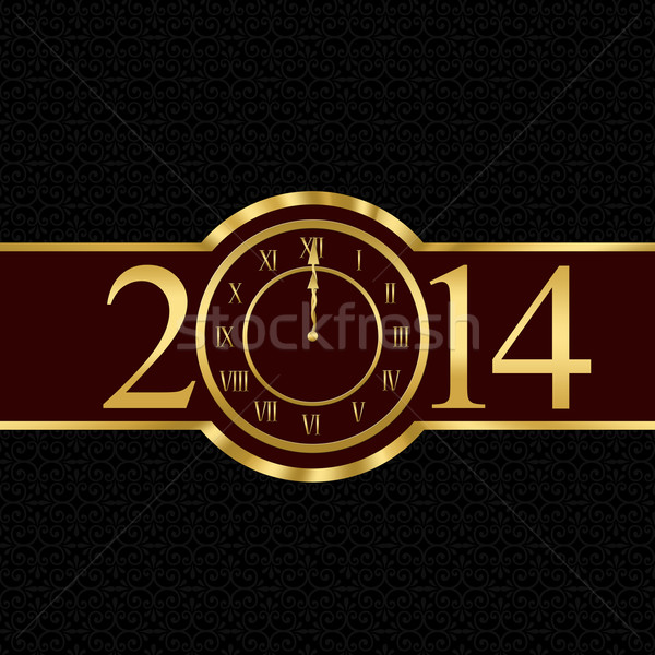 New year 2014 concept with clock Stock photo © carenas1