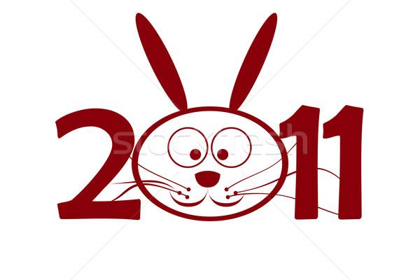 2011 ウサギ 番号 ゼロ 幸せ ストックフォト © carenas1