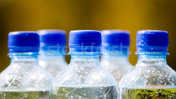Mineral water bottles on nature background Stock photo © carenas1