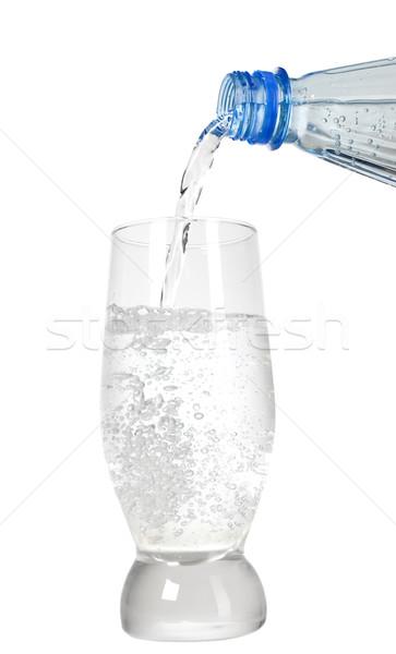 água mineral onda vidro azul frio bolha Foto stock © carenas1