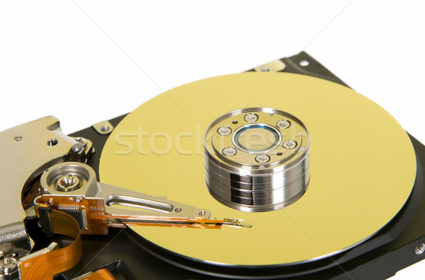 Inside of hard disc  on white background Stock photo © carenas1
