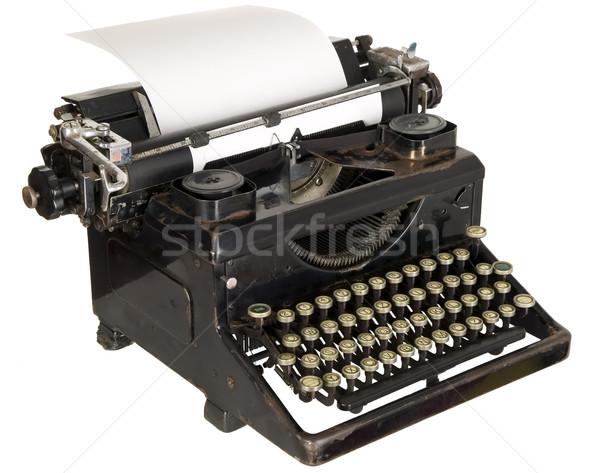 Klasszikus írógép fehér öreg antik fekete Stock fotó © carenas1