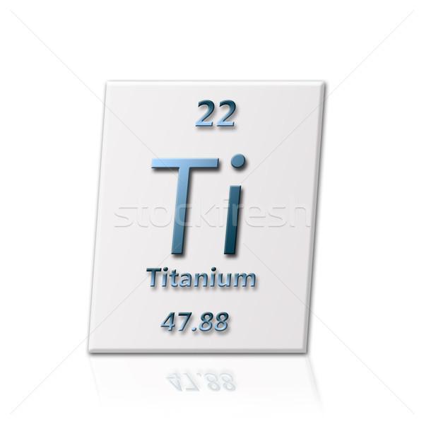 Químico elemento titânio informação escolas Foto stock © carenas1